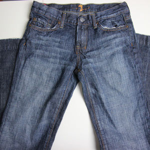 7 for all mankind Womens Dojo Bootcut Jeans 27